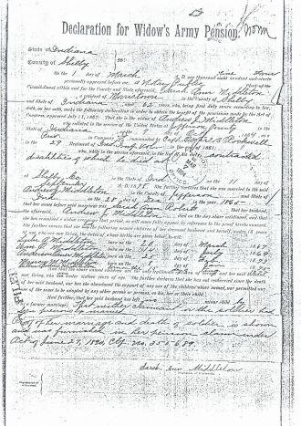 Andrew Jackson Middleton -Civil War Records # 1