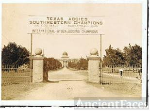 Texas A&M College Front Entrance 1920