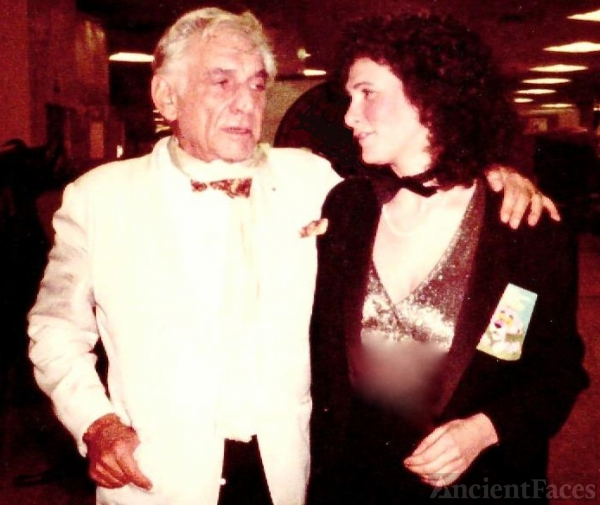 Tracy Gore and Leonard Bernstein