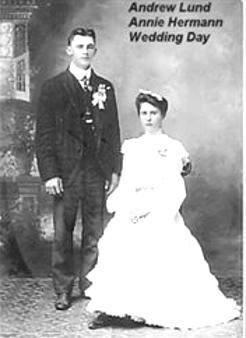 LUND, Andrew and Annie HERMANN Lund Wedding Day