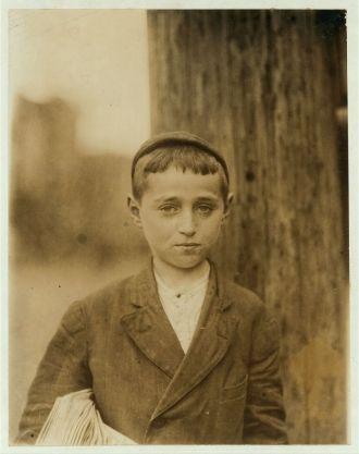 Al Brown, 1910 Delaware Newsboy