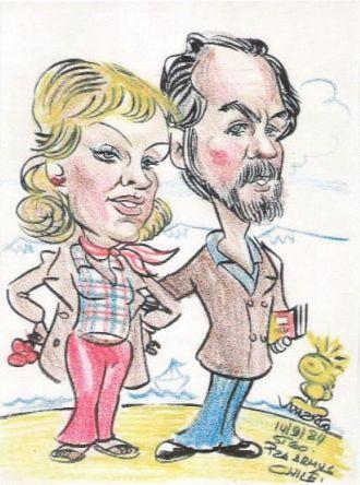 Caricature of Robert Leslie Cazneau