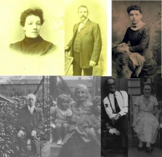 A montage of 7 of my 8 Great-Grandparents