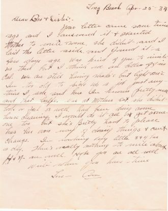 Cora Evans letter