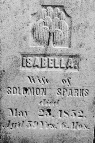 Isabella Swaim gravestone