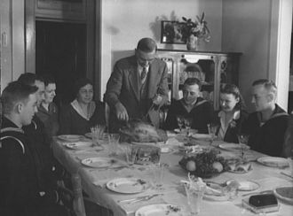Fincham Family Thanksgiving, 1942