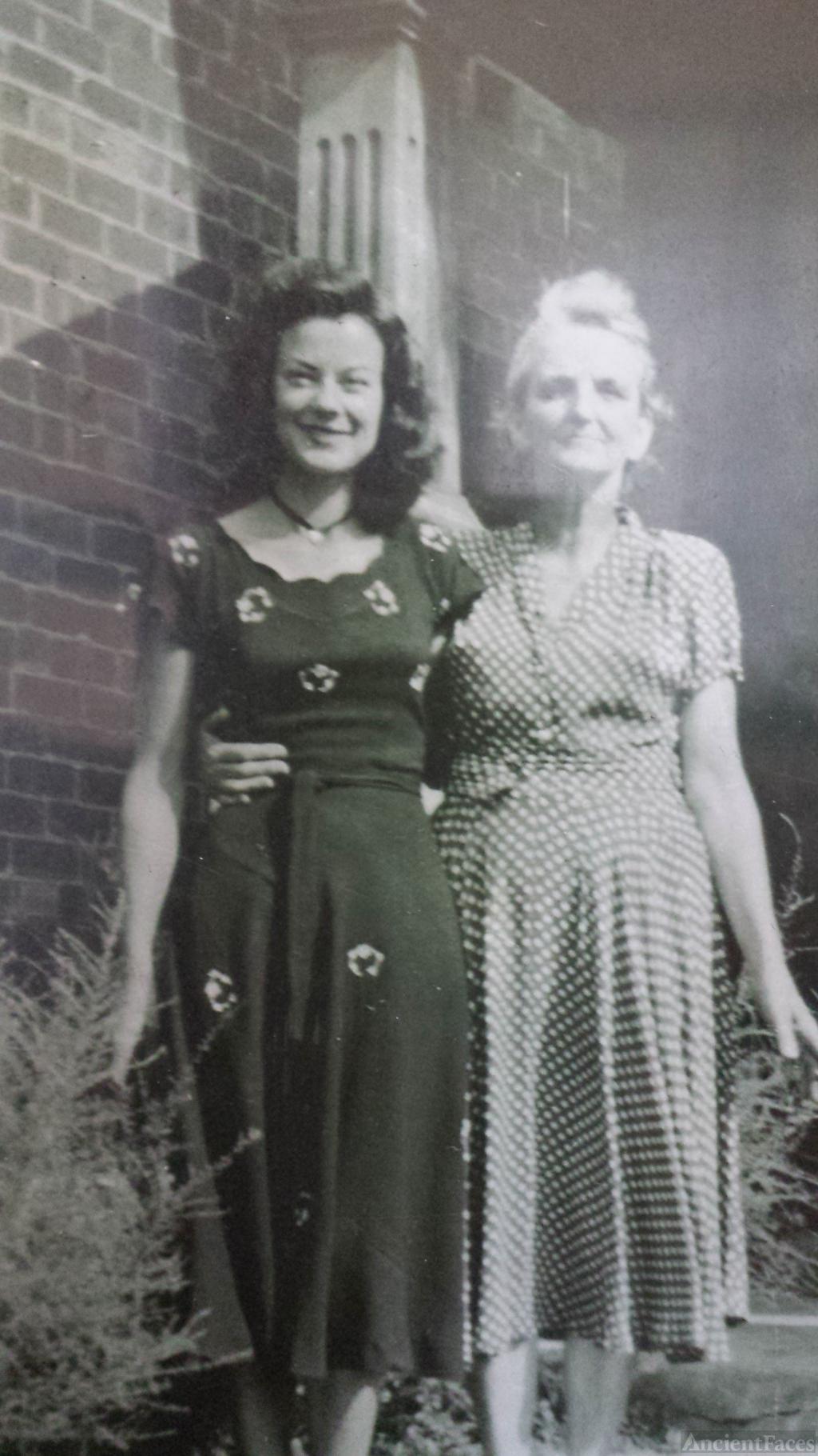 Elizabeth Marie Holland and daughter June Marie