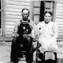 James Clinton Basham with wife Loueller Thomas Mitchell