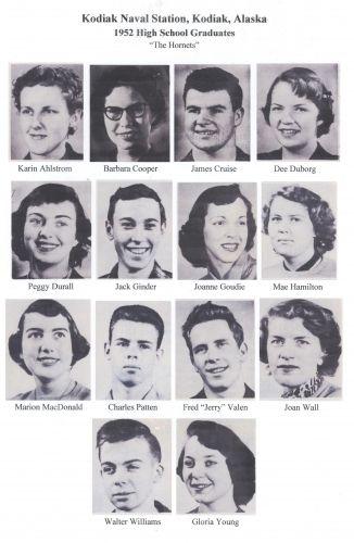 1952 KNS High School graduates