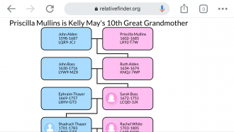 Priscilla Mullins my 10th Great Grandmother