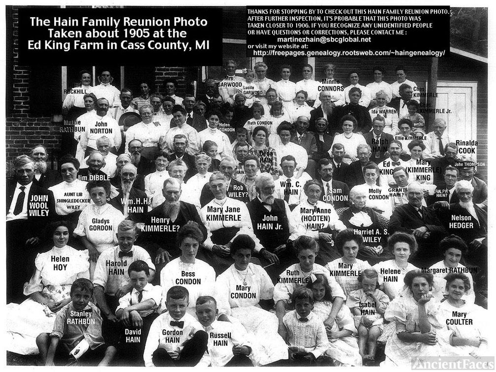 Hain Family Reunion ca. 1905