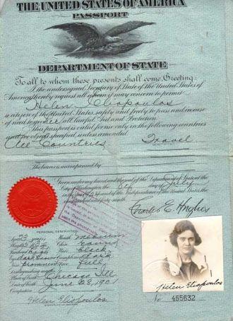 Helen Copulos Ellison's Passport