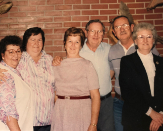 William and Alma with all their grown children