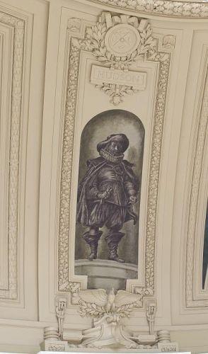"Fresco painting ""Explorer Hudson"" located in rotunda of..."