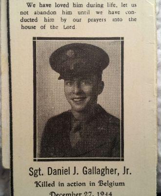 Daniel J Gallagher Jr obituary