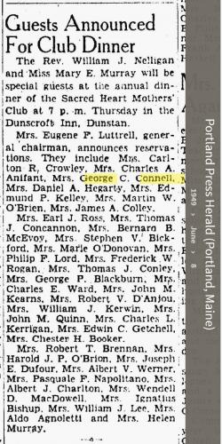 Louise Marie Hagen-Connell--Portland Press Herald (Portland, Maine) (8 jun 1949)