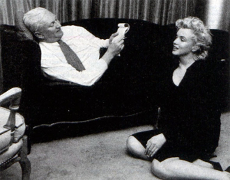 Pete Martin with Marilyn Monroe.