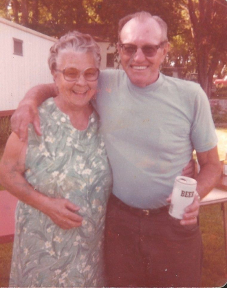 Vera with 2nd husband Dale Peregrine.