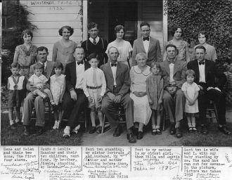 Whitaker Family, 1932 CA
