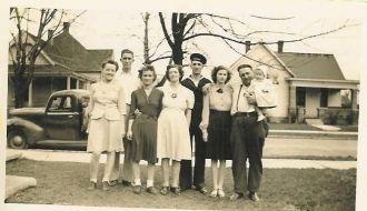 Robert C. Neal With His Family in Mitchell