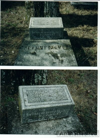 Elizabeth Andrews Hayes Parker grave