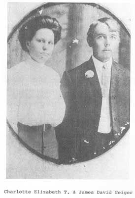 Charlotte Elizabeth (Lottie) Turkett & James Derrick Geiger