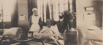 Charles Sweeny in Military Hospital in France