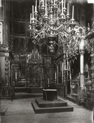 The interior of Dormition Cathedral in Yaroslavl