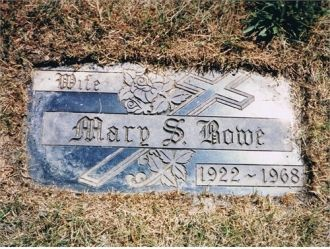 Mary S. Bowe Grave Marker, IL
