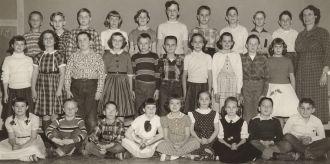 Garrison School class 4th/5th gr 1956-57, named