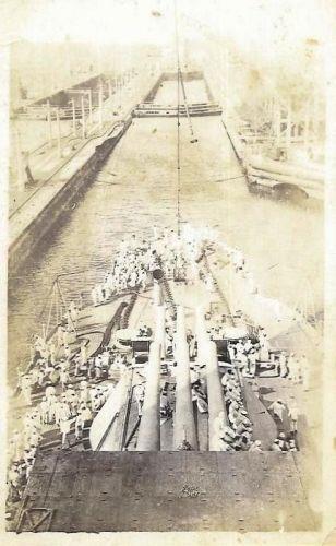 battle ship in harbor