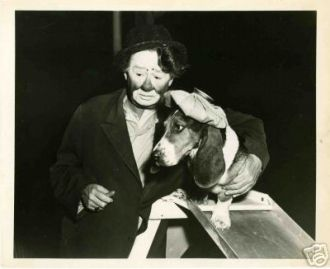 Otto Griebling and Bassett Hound