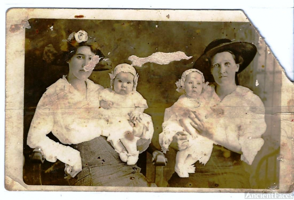 Unknown women and babies