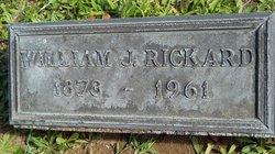 William Joseph Rickard headstone