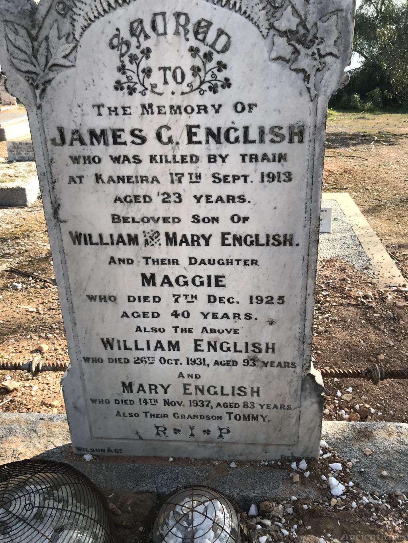 Mary and William English, Raywood, Victoria, Australia