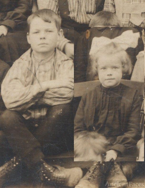 Bill and Myra Campbell, schoolchildren