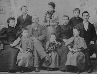 James & Emily (Maxwell) McCloy family, 1892