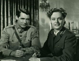 Alexis Smith and Cary Grant