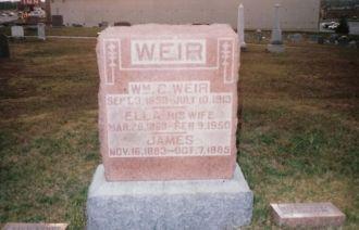 William Chestley Weir,Luella Martha Piper & James Weir gravestone