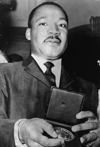 Dr. Martin Luther King Jr. with Medal
