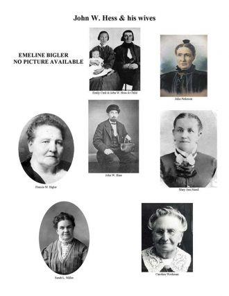 John W. Hess & wives
