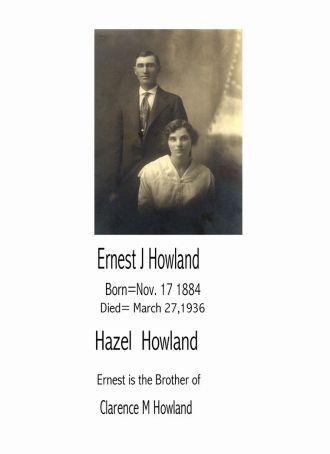 Ernest Howland & Hazel shoop