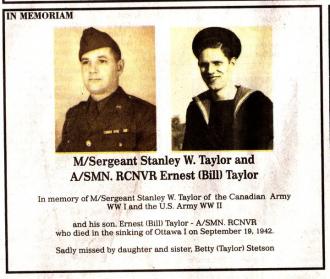 Stanley Wyvern Taylor Memoriam