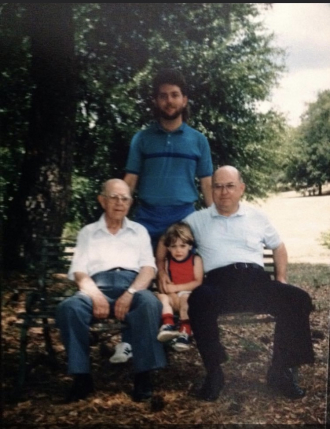 John Campbell Collins and son, grandson and great grandson.
