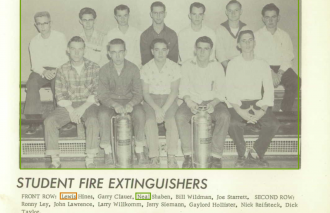 Neal Orvie Shaben--U.S., School Yearbooks, 1900-1999(1959)Student Fire Extinguishers