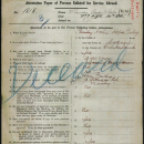 Archie Hope Pawley Military Papers
