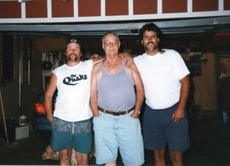 John & Charlie Merrill and friend