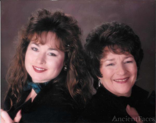 "Mother-Daughter ""Glamour Shot"" from the 1990's  Kristine Elizabeth Smith & Michelle Elizabeth Johnson Smith"