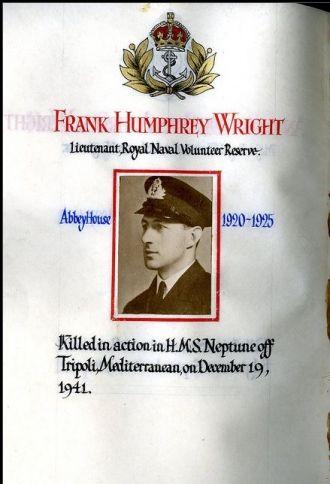Frank Humphrey Wright memorial