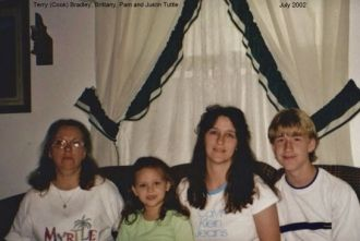 Terry, Brittany, Pam and Justin Tuttle, 2002